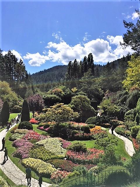 Butchart Gardens' Sunken Garden in Victoria BC