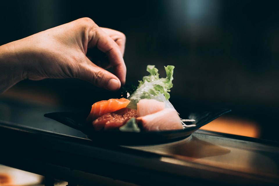 Sashimi Sushi on the West Coast